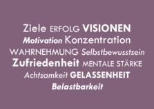 Mentaltraining Ziele Erfolg Visionen Motivation Konzentration Wahrnehmung Selbstbewusstsein Zufriedenheit mentale Stärke Achtsamkeit Gelassenheit Belastbarkeit